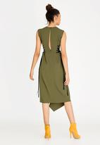 STYLE REPUBLIC - Side Lace Up Dress Green