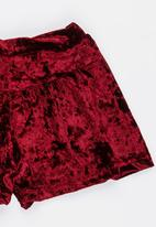 See-Saw - Velour Short Maroon