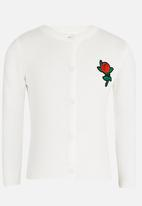 POP CANDY - Rose Detailed Jersey White