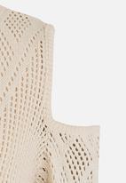 Rebel Republic - Cold Shoulder Knit Cream