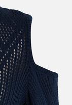 Rebel Republic - Cold Shoulder Knit Navy