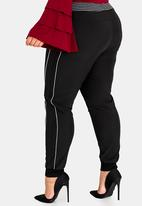 STYLE REPUBLIC PLUS - Sports Luxe Jogger Black
