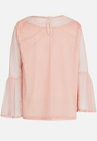 Rebel Republic - Mesh Top Pale Pink