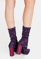 Dolce Vita - Budapest Block Heeled Ankle Boots Pale Purple