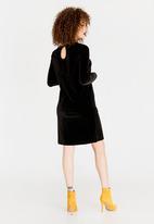ONLY - Velvet Dress Black