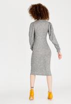 STYLE REPUBLIC - Volume Sleeve Dress Grey