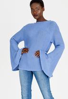 STYLE REPUBLIC - Split Sleeve Jersey Mid Blue