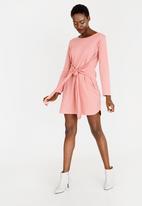 c(inch) - Tie Front Dress Rose