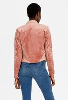 Sassoon - Zip Detail Biker Jacket Mid Pink