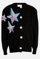 POP CANDY - Jersey with Embroided Detail Black