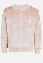 See-Saw - Velvet Bomber Pale Pink
