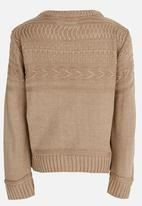 See-Saw - Cable Knit Jersey Taupe
