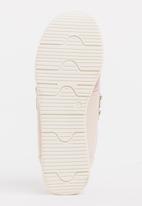 STYLE REPUBLIC - Satin Rhinestone Sneakers Pale Pink