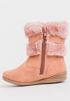 Jumbo - Boots with buckle - mid pink