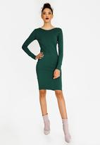 STYLE REPUBLIC - Back Lace Up Dress Green