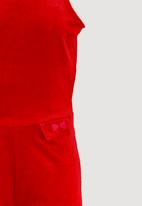 name it - Velour Playsuit Red