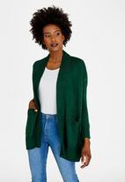 edit - Cardi with Pockets Dark Green