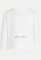 POP CANDY - Embellished Sweater with Lace detail White