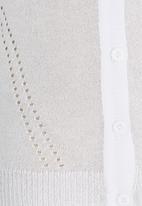 POP CANDY - Longer Lengh Cardigan White
