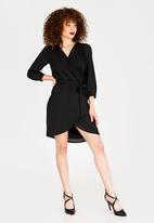 Sissy Boy - Asymmetric Wrap Dress Black
