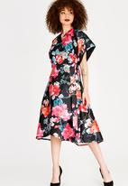 RUFF TUNG - Tuli Wrap Satin-like Dress Multi-colour