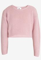Rebel Republic - Front Knot Jumper Pale Pink