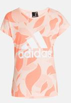 adidas Performance - Graphic Logo Tee Pale Pink