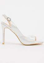 Miss Black - Shalom Heels Silver