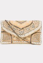 Joy Collectables - Beaded Clutch Bag Cream