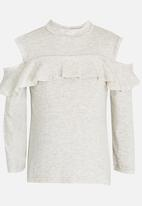 See-Saw - Cold Shoulder Top Stone