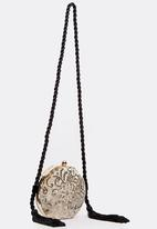 BLACKCHERRY - Embellished Crossbody Bag Gold