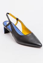 Footwork - Francesca Slingback Heels Black