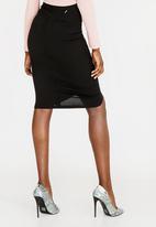 Sissy Boy - Frill Midi Skirt Black