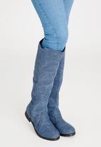 Moda Scapa - Knee Length Boots Dark Blue