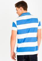 STYLE REPUBLIC - Wide Stripe Golfer Blue