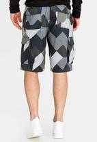 STYLE REPUBLIC - Geo Block Cargo Shorts Multi-colour