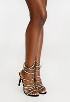 Miss Black - Chloe strappy heels - black