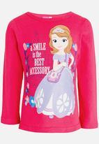 POP CANDY - Princess Sofia   Long Sleeve  Tee Mid Pink