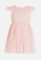 POP CANDY - Tutu dress with flutter sleeve - pink
