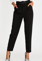 Sissy Boy - High Waisted Belted Trousers Black