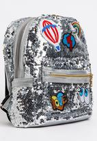 3b9a29fb8520b6 Girls Sequin Backpack Silver POP CANDY Accessories | Superbalist.com