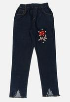 POP CANDY - Girls Printed  Jeans Blue