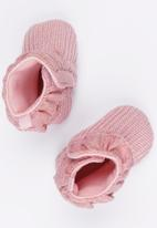 POP CANDY - Frill  Boots Mid Pink