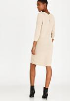 ONLY - Filippa 3/4 Sleeve Dress Stone