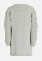 Soobe - Girls Knitted Dress Grey