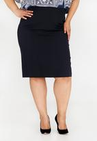 edit Plus - Tailored Pencil Skirt Navy