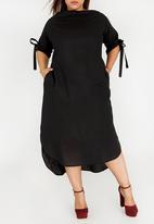e59685d2172 Kenetswe Linen Dress Black Plus-Fab Dresses