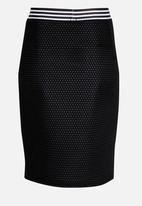 Rebel Republic - Mesh Pencil Skirt Black and White