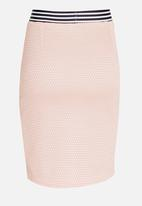 Rebel Republic - Mesh Pencil Skirt Mid Pink