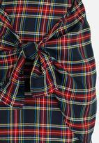 Rebel Republic - Front Tie Detail Skirt Navy